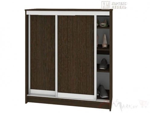 Шкаф для обуви СЕНАТОР ШК41 классика, ДСП+ДСП, Венге, Кортекс-мебель