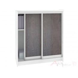 Шкаф для обуви Кортекс-мебель Сенатор ШК42 классика, белый / береза