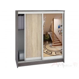 Шкаф для обуви Кортекс-мебель Сенатор ШК42 классика, береза / дуб сонома