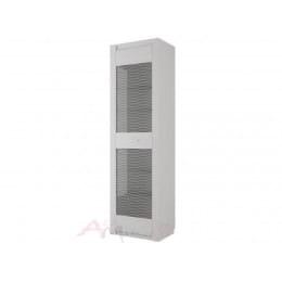 Пенал SV-мебель Гамма 20 со стеклом ясень анкор светлый / сандал светлый