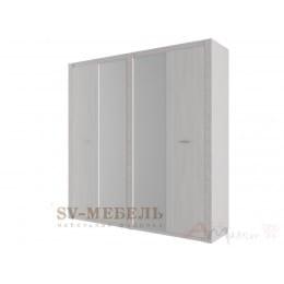 Шкаф SV-мебель Гамма 20 четырехстворчатый ясень анкор светлый / сандал светлый