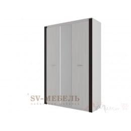 Шкаф SV-мебель Гамма 20 трехстворчатый, комбинированный ясень анкор светлый / венге