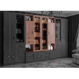 Витрина SV-мебель Вега ВМ-20 ясень шимо темный