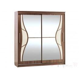 Шкаф-купе SV-мебель 16 2 м ясень шимо темный / ясень шимо светлый