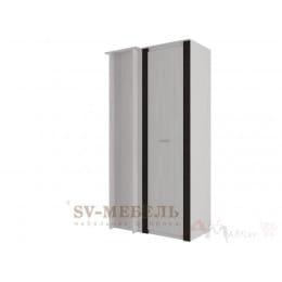 Шкаф SV-мебель Гамма 20 угловой,прямой ясень анкор светлый / венге