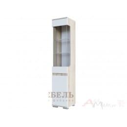 Пенал SV-мебель Нота 25 дуб сонома / белый глянец