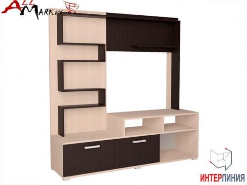 Набор корпусной мебели для гостиной Аризона 1 Интерлиния венге / дуб молочный