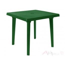 Стол Алеана пластиковый квадратный 80*80 зелёный
