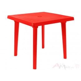 Стол Алеана пластиковый квадратный 80*80 красный