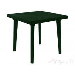 Стол Алеана пластиковый квадратный 80*80 темно-зеленый