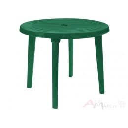 Стол Алеана пластиковый круглый d90 зелёный