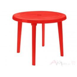 Стол Алеана пластиковый круглый d90 красный