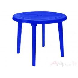 Стол Алеана пластиковый круглый d90 тёмно-синий