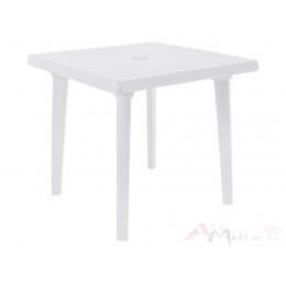 Стол Алеана пластиковый квадратный 80*80 белый