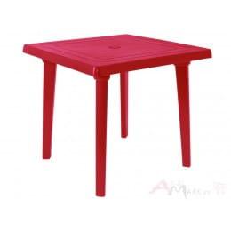 Стол Алеана пластиковый квадратный 80*80 вишнёвый