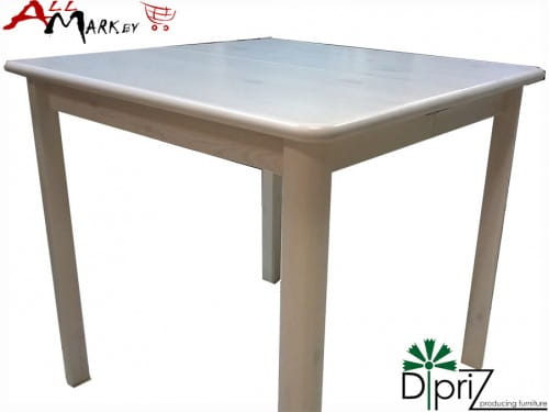 Квадратный кухонный стол Вестфалия Диприз Д 4191 из массива сосны