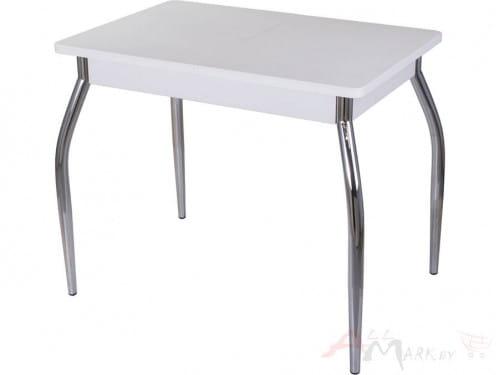 Стол с камнем Домотека Румба ПР-М (белый/белый/01) 60х88(125)