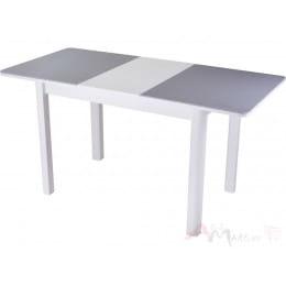 Стол Домотека Румба ПР-1 (серый/белый/04 ) 80х120 (157), с камнем