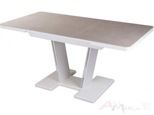 Стол с керамогранитом Болеро ПР-1 (капучино/белый/03) 80х120(159), Домотека
