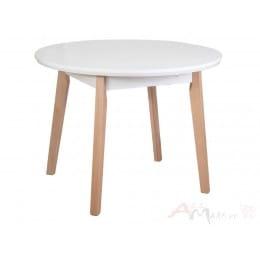 Стол Drewmix OSLO 4 белый / бук