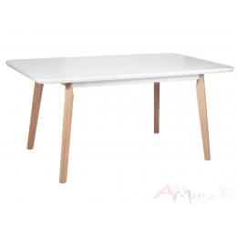 Стол Drewmix OSLO 8 белый / бук
