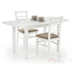 Стол Halmar Dinner 120/158 раскладной, белый
