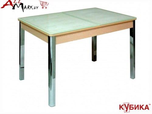 Кухонный стол Бомбей 1 Кубика со столешницей из закаленного стекла