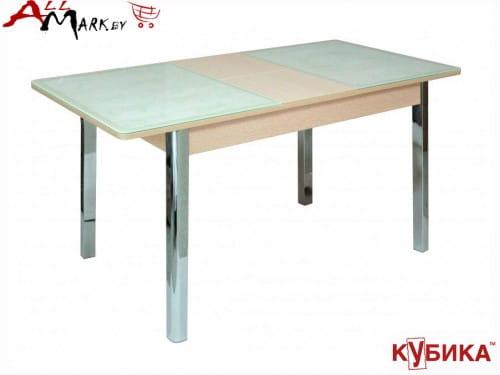 Кухонный стол Бомбей 2 Кубика со столешницей из закаленного стекла