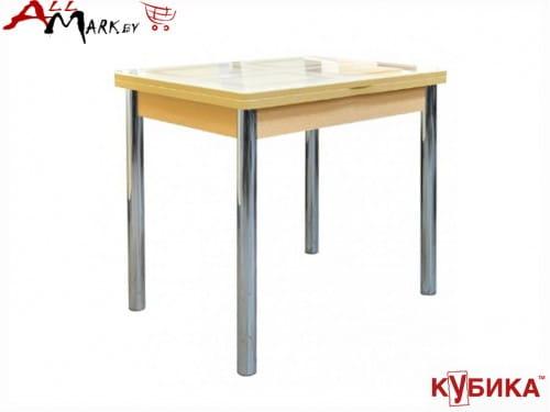 Кухонный стол Дакар 2 Кубика с закаленным стеклом