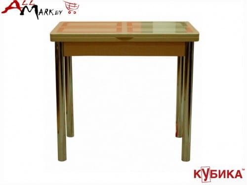 Кухонный стол Дакар 1 Кубика с закаленным стеклом