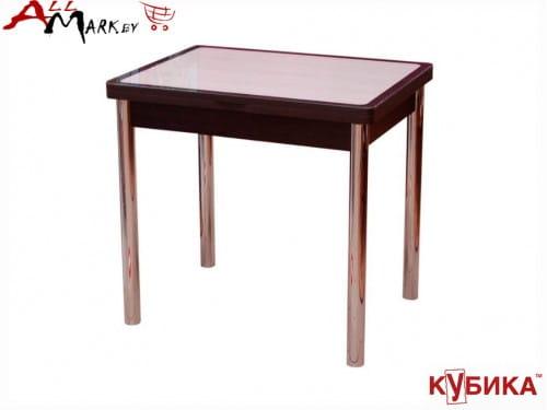 Кухонный стол Мюнхен 2 Кубика с закаленным стеклом