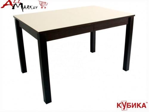 Кухонный стол Нагано 3 Кубика со столешницей из закаленного стекла