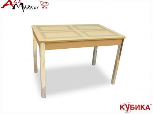 Кухонный стол Ницца 2 Кубика со столешницей из закаленного стекла