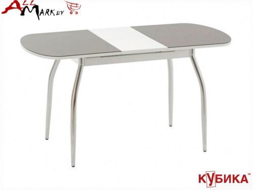 Кухонный стол Портофино 1МЛ Кубика без рисунка с матовым закаленным стеклом