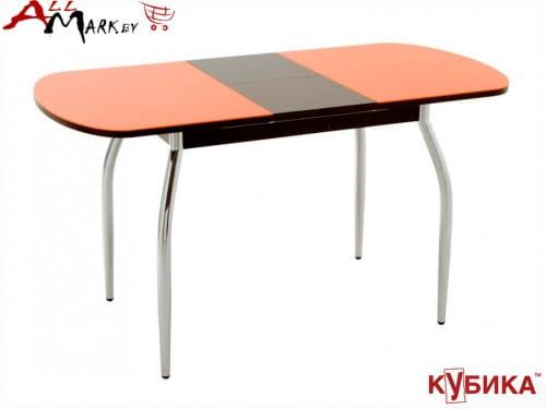 Кухонный стол Портофино 1 Кубика без рисунка (Рис. 0) с закаленным стеклом
