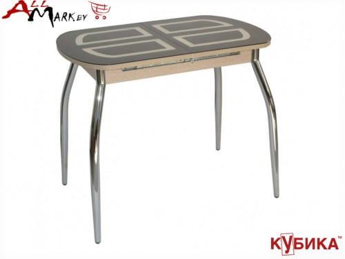 Небольшой кухонный стол Портофино Мини Кубика со стеклом