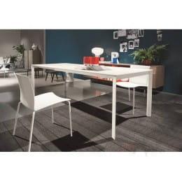 Стол BONTEMPI DUBLINO (20.17) M306/ M306 бел./С180S VELVET, + L079 white wood ext