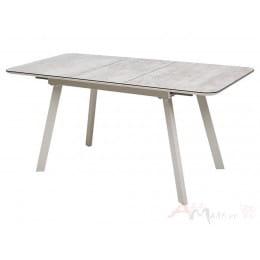 Стол M-City ARUBA 120 BEIGE/ CAPPUCINO глазурованное стекло