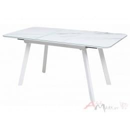Стол M-City ARUBA 120 GREY-WHITE/ WHITE глазурованное стекло