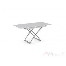 Стол Calligaris MAGIC-J CS/5041-G, P77 chrome/ P64 white/ glass GXW extrawhite