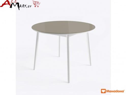 Круглый стол Раунд МамаДома со столешницей из закаленного стекла