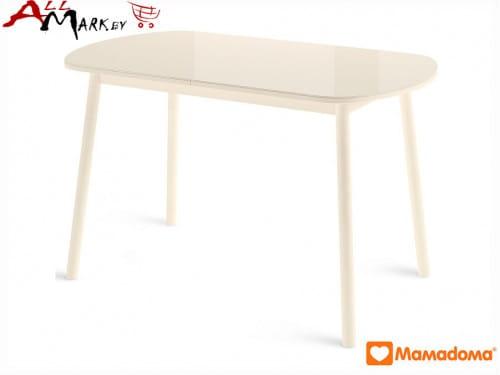 Кухонный стол Раунд МамаДома со столешницей из закаленного стекла