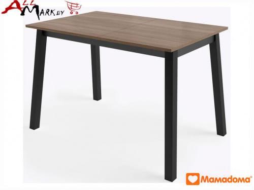 Раскладной кухонный стол Тирк МамаДома со столешницей из закаленного стекла и ЛДСП