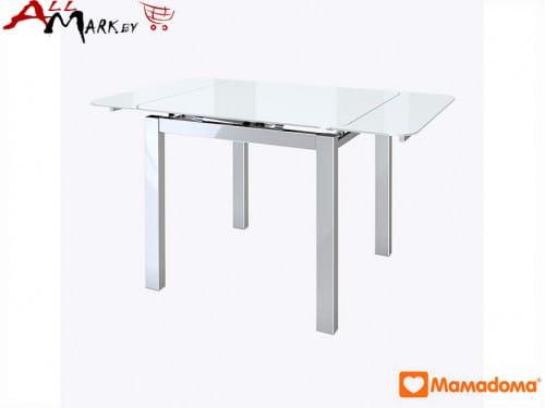 Кухонный стол Вильд МамаДома со столешницей из закаленного стекла