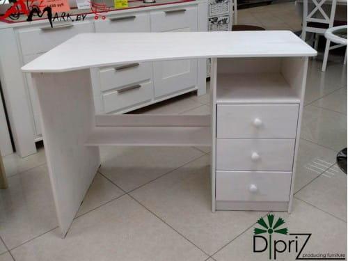 Угловой письменный стол Д 4201 Корнер Диприз из массива сосны