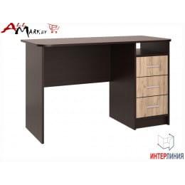 Компьютерный стол Интерлиния СК 001 венге / дуб серый