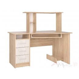 Компьютерный стол Интерлиния СК 003 дуб сонома / дуб белый