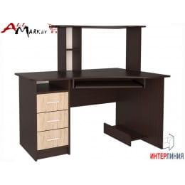 Компьютерный стол Интерлиния СК 003 венге / дуб серый