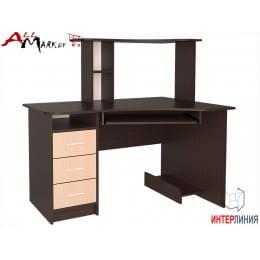 Компьютерный стол Интерлиния СК 003 венге / дуб молочный