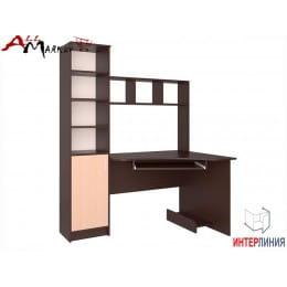 Компьютерный стол Интерлиния СК 005 венге / дуб молочный